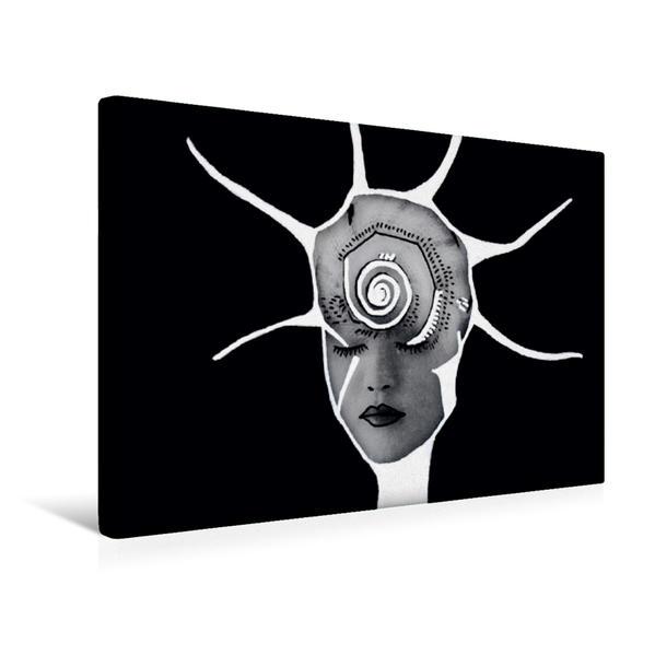 Premium Textil-Leinwand 45 cm x 30 cm quer, Jungle Face IV | Wandbild, Bild auf Keilrahmen, Fertigbild auf echter Leinwand, Leinwanddruck - Coverbild