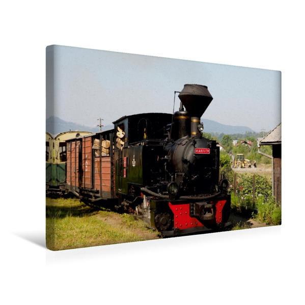 Premium Textil-Leinwand 45 cm x 30 cm quer, Die Dampflok Mariuta der Wassertalbahn   Wandbild, Bild auf Keilrahmen, Fertigbild auf echter Leinwand, Leinwanddruck - Coverbild