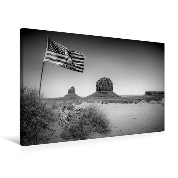 Premium Textil-Leinwand 75 cm x 50 cm quer, MONUMENT VALLEY USA   Wandbild, Bild auf Keilrahmen, Fertigbild auf echter Leinwand, Leinwanddruck - Coverbild