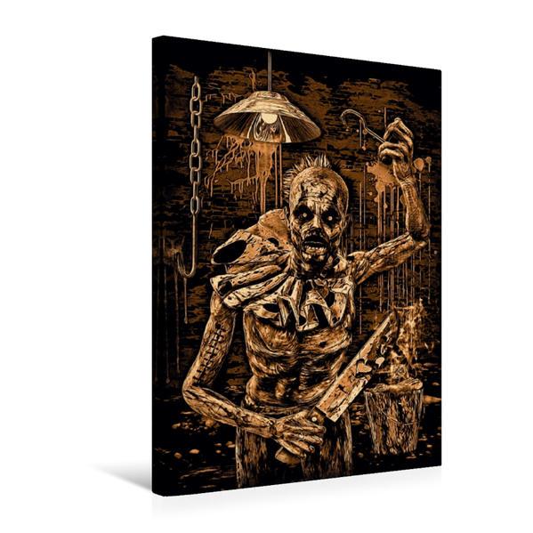 Premium Textil-Leinwand 50 cm x 75 cm hoch, Ein Motiv aus dem Kalender BLOODBOY/CREEPY ILLUSTRATION | Wandbild, Bild auf Keilrahmen, Fertigbild auf echter Leinwand, Leinwanddruck - Coverbild