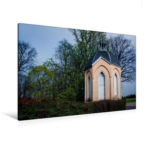 Premium Textil-Leinwand 120 cm x 80 cm quer, Haus Meer in Meerbusch-Büderich | Wandbild, Bild auf Keilrahmen, Fertigbild auf echter Leinwand, Leinwanddruck - Coverbild