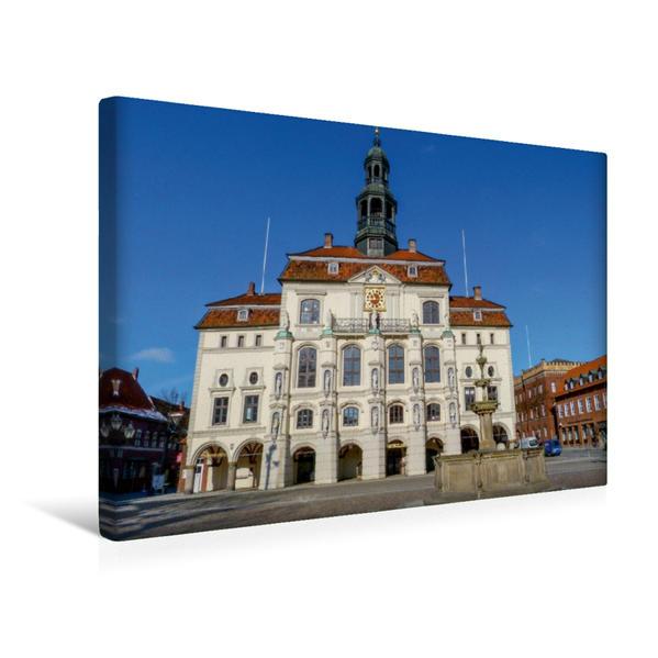 Premium Textil-Leinwand 45 cm x 30 cm quer, Historisches Rathaus Lüneburg | Wandbild, Bild auf Keilrahmen, Fertigbild auf echter Leinwand, Leinwanddruck - Coverbild