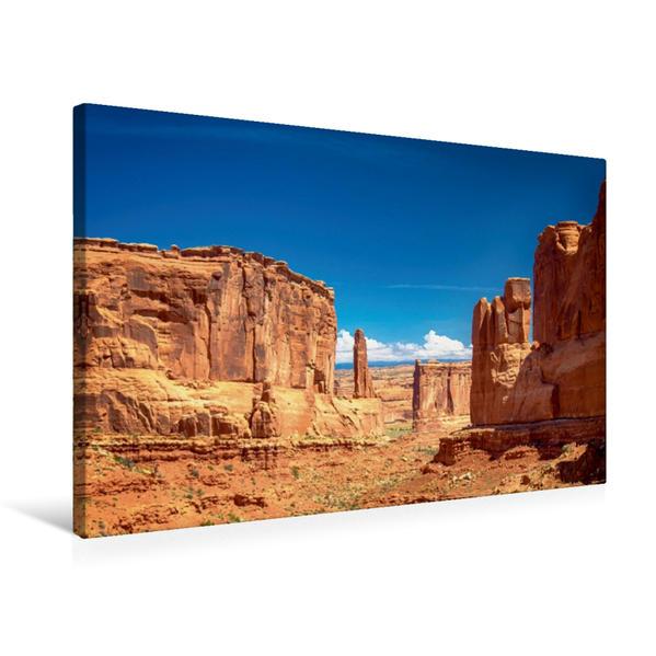 Premium Textil-Leinwand 75 cm x 50 cm quer, Arches NP | Wandbild, Bild auf Keilrahmen, Fertigbild auf echter Leinwand, Leinwanddruck - Coverbild