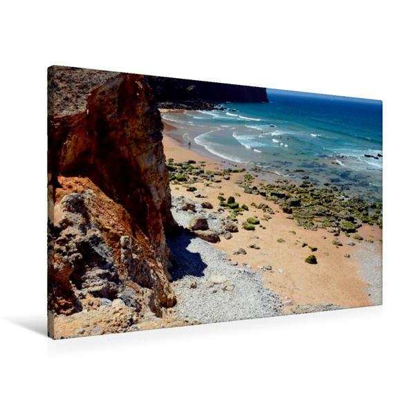 Premium Textil-Leinwand 90 cm x 60 cm quer, Praia do Tonel | Wandbild, Bild auf Keilrahmen, Fertigbild auf echter Leinwand, Leinwanddruck - Coverbild