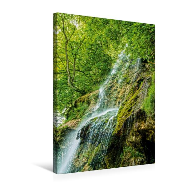 Premium Textil-Leinwand 50 cm x 75 cm hoch, Ein Motiv aus dem Kalender Wasserfälle in Deutschland, Frankreich und auf den Britischen Inseln | Wandbild, Bild auf Keilrahmen, Fertigbild auf echter Leinwand, Leinwanddruck - Coverbild