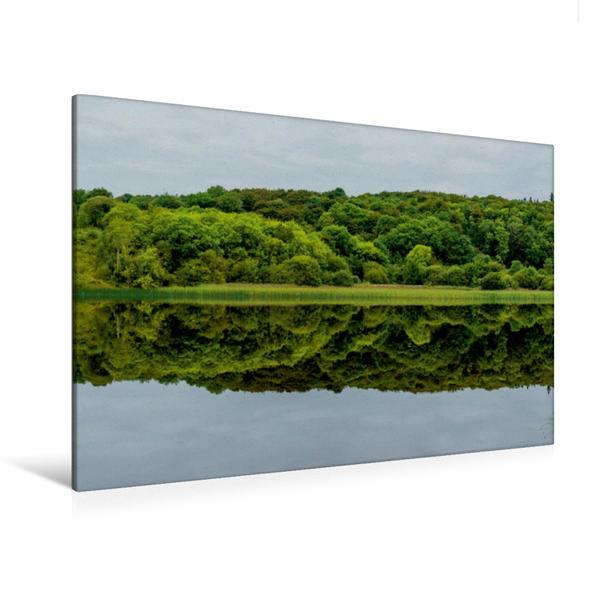Premium Textil-Leinwand 120 cm x 80 cm quer, Lough Gill, Sligo   Wandbild, Bild auf Keilrahmen, Fertigbild auf echter Leinwand, Leinwanddruck - Coverbild