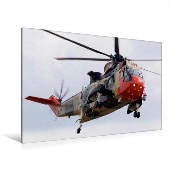 Premium Textil-Leinwand 120 cm x 80 cm quer, WS-61 Sea King Mk48 Belgian Air Component   Wandbild, Bild auf Keilrahmen, Fertigbild auf echter Leinwand, Leinwanddruck - Coverbild