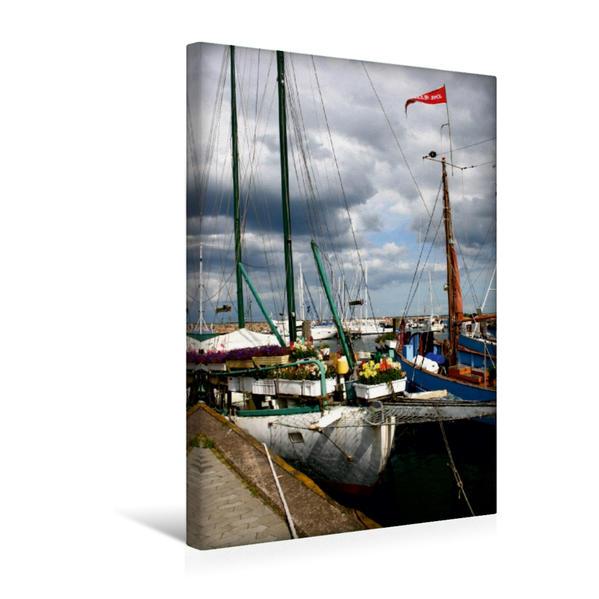 Premium Textil-Leinwand 30 cm x 45 cm hoch, Saeby Hafen | Wandbild, Bild auf Keilrahmen, Fertigbild auf echter Leinwand, Leinwanddruck - Coverbild