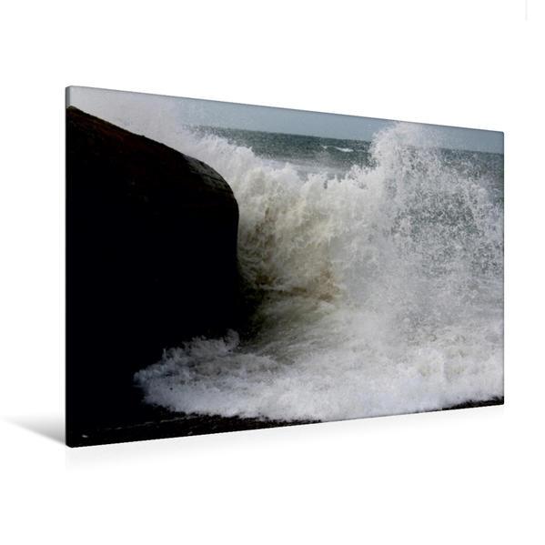 Premium Textil-Leinwand 120 cm x 80 cm quer, Ein Motiv aus dem Kalender Dänische Nordsee | Wandbild, Bild auf Keilrahmen, Fertigbild auf echter Leinwand, Leinwanddruck - Coverbild