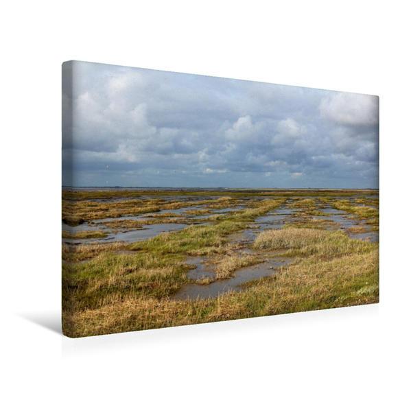 Premium Textil-Leinwand 45 cm x 30 cm quer, Auf dem Weg nach Rømø | Wandbild, Bild auf Keilrahmen, Fertigbild auf echter Leinwand, Leinwanddruck - Coverbild