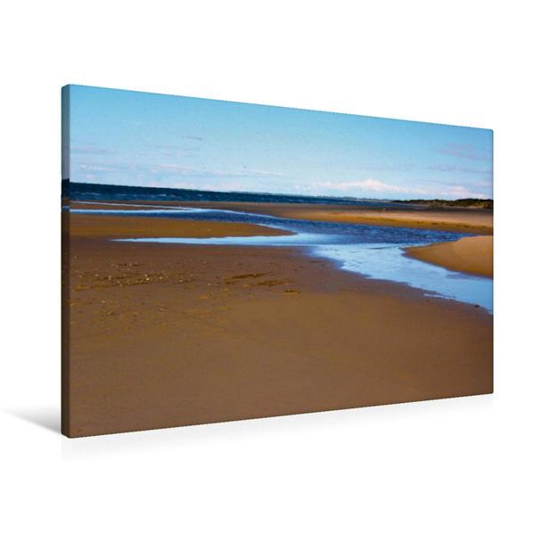 Premium Textil-Leinwand 90 cm x 60 cm quer, Ein Motiv aus dem Kalender Goldener Sand am Nordseestrand | Wandbild, Bild auf Keilrahmen, Fertigbild auf echter Leinwand, Leinwanddruck - Coverbild