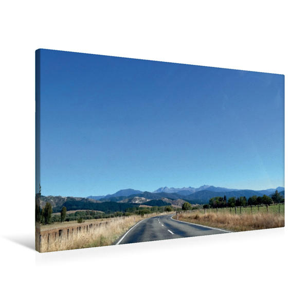 Premium Textil-Leinwand 90 cm x 60 cm quer, Motueka Valley Highway, Tapawera, Tasman District   Wandbild, Bild auf Keilrahmen, Fertigbild auf echter Leinwand, Leinwanddruck - Coverbild