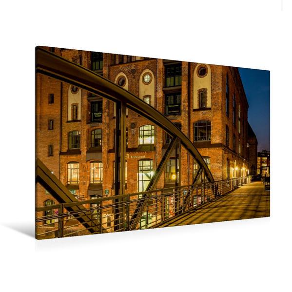 Premium Textil-Leinwand 120 cm x 80 cm quer, Fassade Kibbelsteg | Wandbild, Bild auf Keilrahmen, Fertigbild auf echter Leinwand, Leinwanddruck - Coverbild