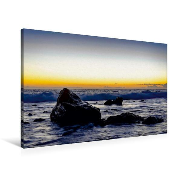 Premium Textil-Leinwand 90 cm x 60 cm quer, Playa del Inglés | Wandbild, Bild auf Keilrahmen, Fertigbild auf echter Leinwand, Leinwanddruck - Coverbild