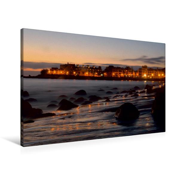 Premium Textil-Leinwand 90 cm x 60 cm quer, Abendstimmung am Playa | Wandbild, Bild auf Keilrahmen, Fertigbild auf echter Leinwand, Leinwanddruck - Coverbild