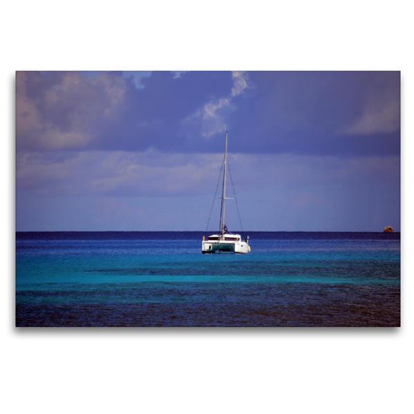 Premium Textil-Leinwand 120 cm x 80 cm quer, Segeln im Indischen Ozean | Wandbild, Bild auf Keilrahmen, Fertigbild auf echter Leinwand, Leinwanddruck - Coverbild