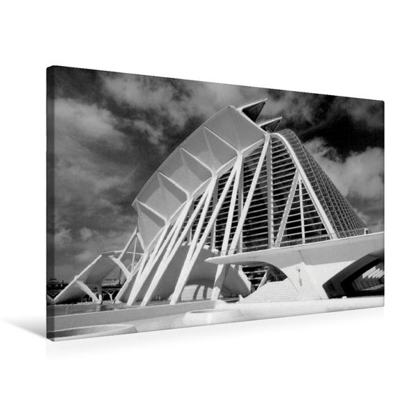 Premium Textil-Leinwand 75 cm x 50 cm quer, Moderne Architektur in Valencia | Wandbild, Bild auf Keilrahmen, Fertigbild auf echter Leinwand, Leinwanddruck - Coverbild