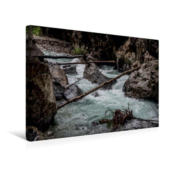 Premium Textil-Leinwand 45 cm x 30 cm quer, Ein Motiv aus dem Kalender Partnachklamm Impressionen | Wandbild, Bild auf Keilrahmen, Fertigbild auf echter Leinwand, Leinwanddruck - Coverbild