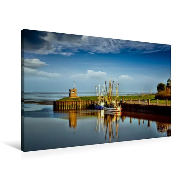 Premium Textil-Leinwand 90 cm x 60 cm quer, Dangast an der Nordsee   Wandbild, Bild auf Keilrahmen, Fertigbild auf echter Leinwand, Leinwanddruck - Coverbild