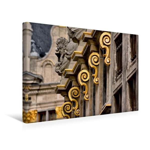 Premium Textil-Leinwand 45 cm x 30 cm quer, Ornamente | Wandbild, Bild auf Keilrahmen, Fertigbild auf echter Leinwand, Leinwanddruck - Coverbild