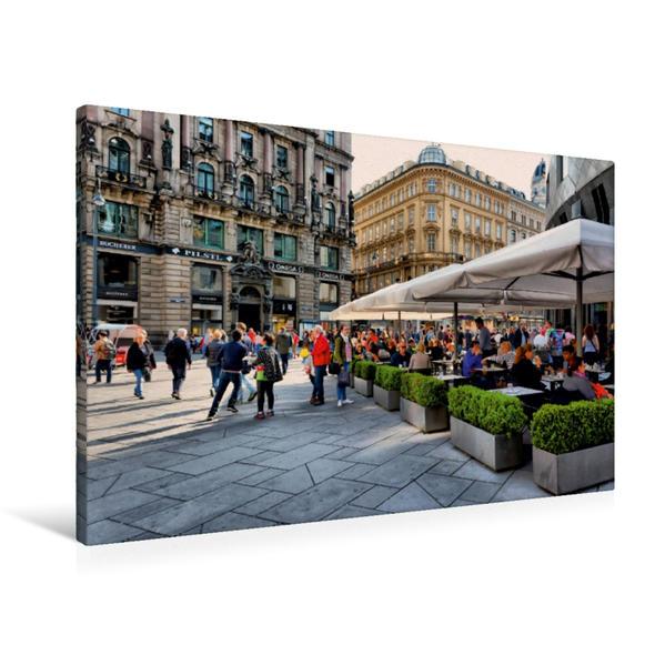 Premium Textil-Leinwand 90 cm x 60 cm quer, Innenstadt | Wandbild, Bild auf Keilrahmen, Fertigbild auf echter Leinwand, Leinwanddruck - Coverbild