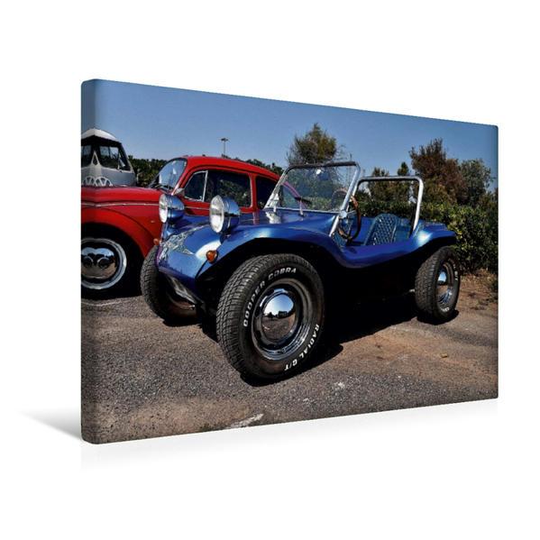 Premium Textil-Leinwand 45 cm x 30 cm quer, Ein Motiv aus dem Kalender Buggys - die Kultautos der 80er | Wandbild, Bild auf Keilrahmen, Fertigbild auf echter Leinwand, Leinwanddruck - Coverbild
