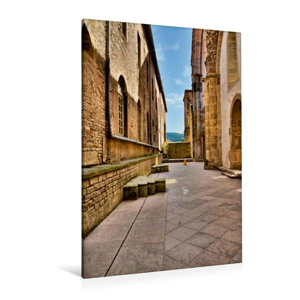 Premium Textil-Leinwand 80 cm x 120 cm  hoch, Zwischen hohen Mauern | Wandbild, Bild auf Keilrahmen, Fertigbild auf echter Leinwand, Leinwanddruck - Coverbild