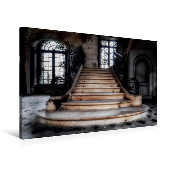 Premium Textil-Leinwand 90 cm x 60 cm quer, chateau de singes | Wandbild, Bild auf Keilrahmen, Fertigbild auf echter Leinwand, Leinwanddruck - Coverbild