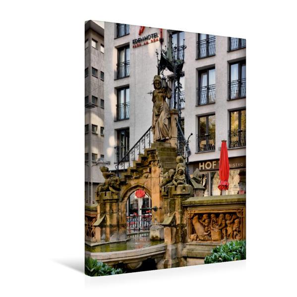 Premium Textil-Leinwand 50 cm x 75 cm hoch, Heinzelmännchenbrunnen | Wandbild, Bild auf Keilrahmen, Fertigbild auf echter Leinwand, Leinwanddruck - Coverbild