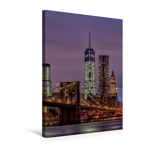 Premium Textil-Leinwand 50 cm x 75 cm hoch, New York City - USA | Wandbild, Bild auf Keilrahmen, Fertigbild auf echter Leinwand, Leinwanddruck - Coverbild