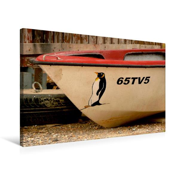 Premium Textil-Leinwand 75 cm x 50 cm quer, Boot an der Algarve | Wandbild, Bild auf Keilrahmen, Fertigbild auf echter Leinwand, Leinwanddruck - Coverbild