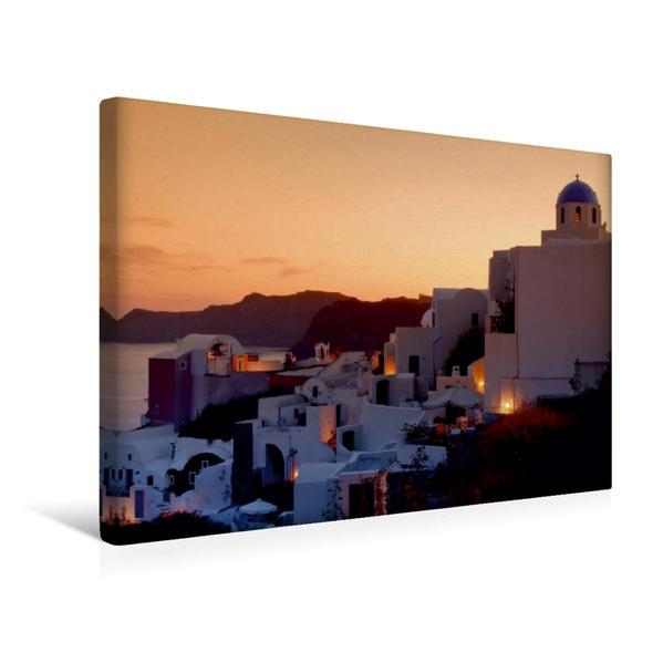 Premium Textil-Leinwand 45 cm x 30 cm quer, SANTORINI | Wandbild, Bild auf Keilrahmen, Fertigbild auf echter Leinwand, Leinwanddruck - Coverbild