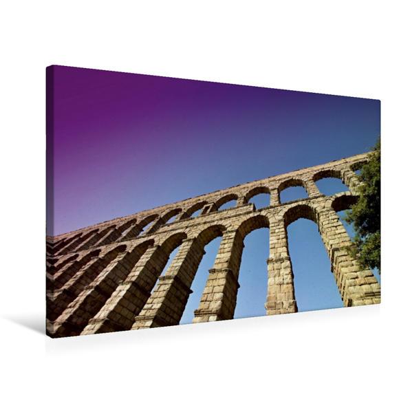 Premium Textil-Leinwand 75 cm x 50 cm quer, Viadukt in Segovia | Wandbild, Bild auf Keilrahmen, Fertigbild auf echter Leinwand, Leinwanddruck - Coverbild