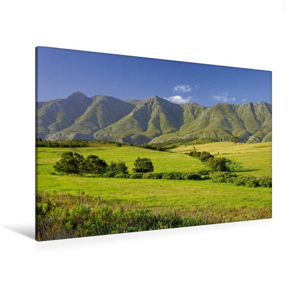 Premium Textil-Leinwand 120 cm x 80 cm quer, Langeberge - Swellendam | Wandbild, Bild auf Keilrahmen, Fertigbild auf echter Leinwand, Leinwanddruck - Coverbild
