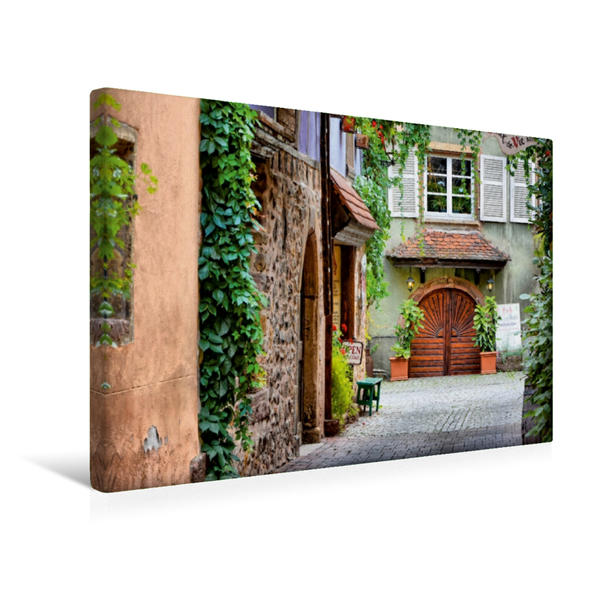 Premium Textil-Leinwand 45 cm x 30 cm quer, Eingangsbereich   Wandbild, Bild auf Keilrahmen, Fertigbild auf echter Leinwand, Leinwanddruck - Coverbild