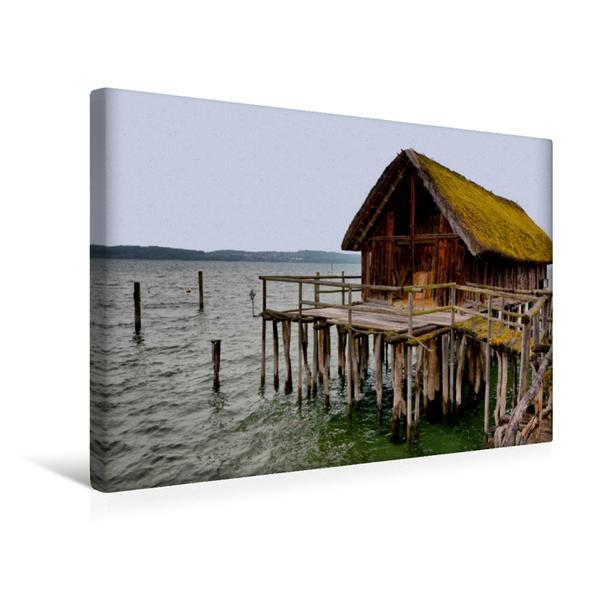 Premium Textil-Leinwand 45 cm x 30 cm quer, Unteruhldingen | Wandbild, Bild auf Keilrahmen, Fertigbild auf echter Leinwand, Leinwanddruck - Coverbild