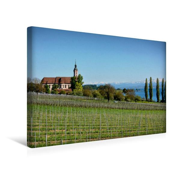 Premium Textil-Leinwand 45 cm x 30 cm quer, Birnau   Wandbild, Bild auf Keilrahmen, Fertigbild auf echter Leinwand, Leinwanddruck - Coverbild