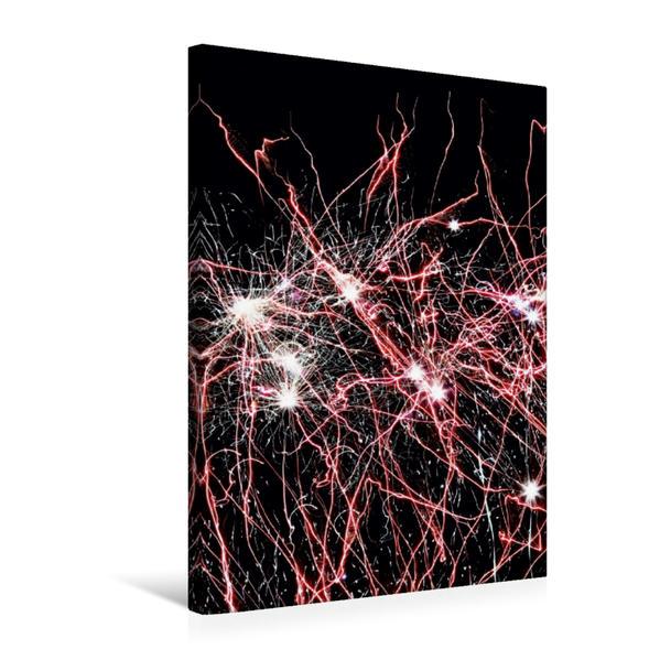Premium Textil-Leinwand 50 cm x 75 cm hoch, Ein Motiv aus dem Kalender FEUERWERK - Lichtspiele | Wandbild, Bild auf Keilrahmen, Fertigbild auf echter Leinwand, Leinwanddruck - Coverbild