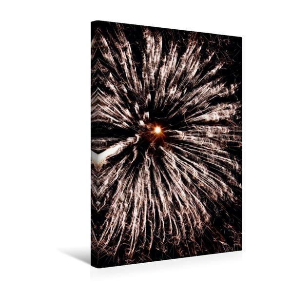 Premium Textil-Leinwand 30 cm x 45 cm hoch, Ein Motiv aus dem Kalender FEUERWERK - Lichtspiele | Wandbild, Bild auf Keilrahmen, Fertigbild auf echter Leinwand, Leinwanddruck - Coverbild