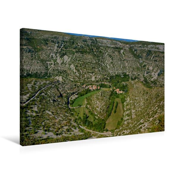 Premium Textil-Leinwand 75 cm x 50 cm quer, Cirque de Navacelle | Wandbild, Bild auf Keilrahmen, Fertigbild auf echter Leinwand, Leinwanddruck - Coverbild