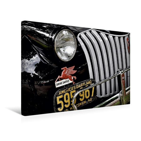 Premium Textil-Leinwand 45 cm x 30 cm quer, Chevrolet Advance Design | Wandbild, Bild auf Keilrahmen, Fertigbild auf echter Leinwand, Leinwanddruck - Coverbild