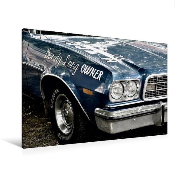 Premium Textil-Leinwand 120 cm x 80 cm quer, Ford Ranchero 500 | Wandbild, Bild auf Keilrahmen, Fertigbild auf echter Leinwand, Leinwanddruck - Coverbild