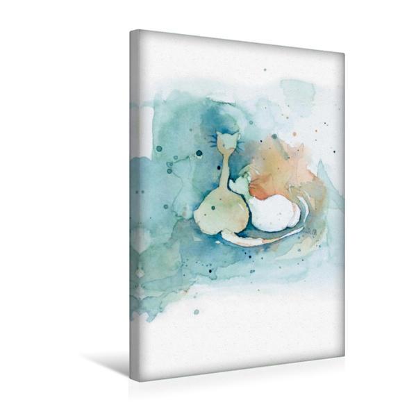 Premium Textil-Leinwand 30 cm x 45 cm hoch, CATS – silent moments, besinnliche Momente | Wandbild, Bild auf Keilrahmen, Fertigbild auf echter Leinwand, Leinwanddruck - Coverbild