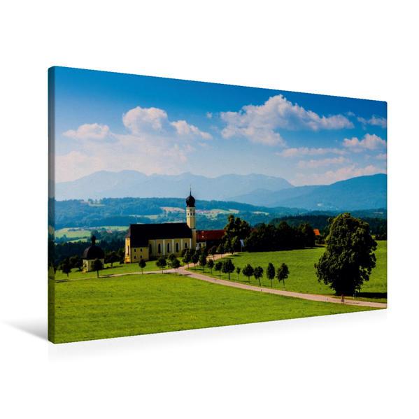 Premium Textil-Leinwand 90 cm x 60 cm quer, Irschenberg | Wandbild, Bild auf Keilrahmen, Fertigbild auf echter Leinwand, Leinwanddruck - Coverbild