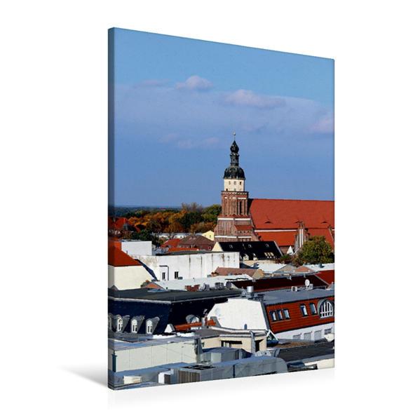 Premium Textil-Leinwand 60 cm x 90 cm hoch, Cottbus | Wandbild, Bild auf Keilrahmen, Fertigbild auf echter Leinwand, Leinwanddruck - Coverbild