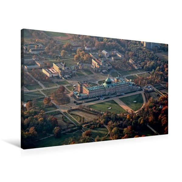 Premium Textil-Leinwand 90 cm x 60 cm quer, Neues Palais und Communs bei Potsdam | Wandbild, Bild auf Keilrahmen, Fertigbild auf echter Leinwand, Leinwanddruck - Coverbild