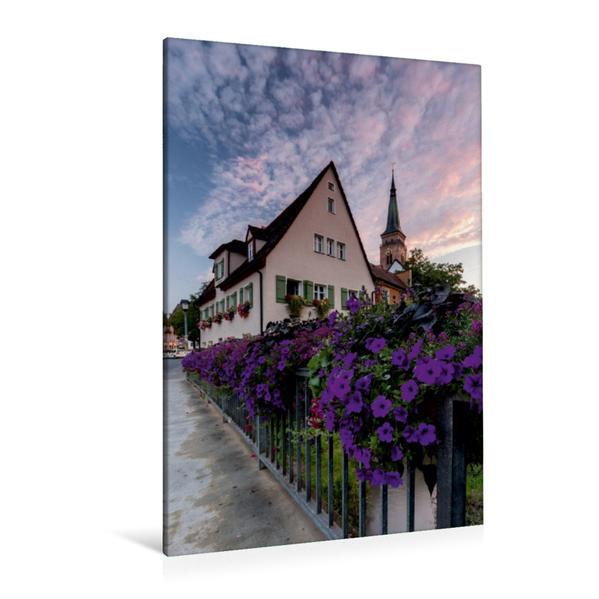 Premium Textil-Leinwand 80 cm x 120 cm  hoch, Schwabach | Wandbild, Bild auf Keilrahmen, Fertigbild auf echter Leinwand, Leinwanddruck - Coverbild