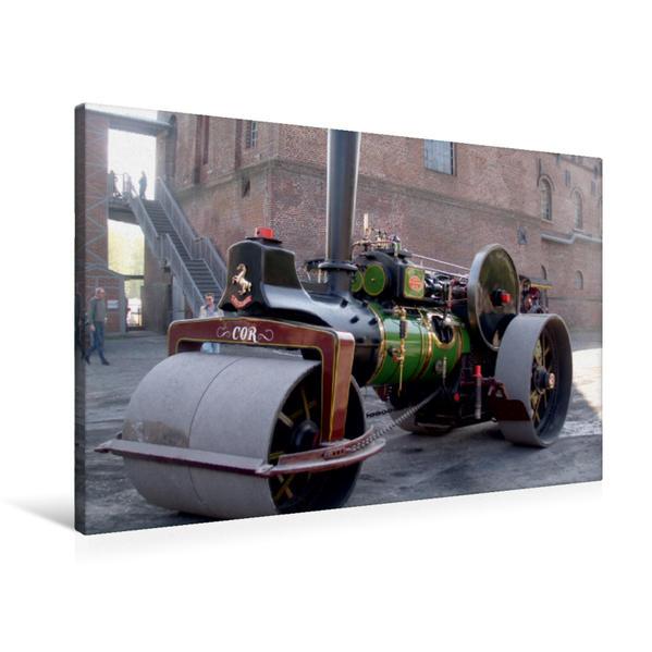 Premium Textil-Leinwand 90 cm x 60 cm quer, Ein Motiv aus dem Kalender Dampffahrzeuge   Wandbild, Bild auf Keilrahmen, Fertigbild auf echter Leinwand, Leinwanddruck - Coverbild