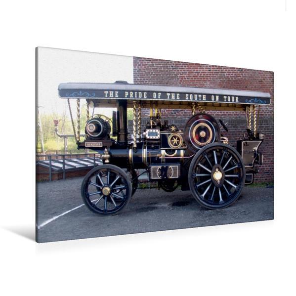 Premium Textil-Leinwand 120 cm x 80 cm quer, Ein Motiv aus dem Kalender Dampffahrzeuge | Wandbild, Bild auf Keilrahmen, Fertigbild auf echter Leinwand, Leinwanddruck - Coverbild