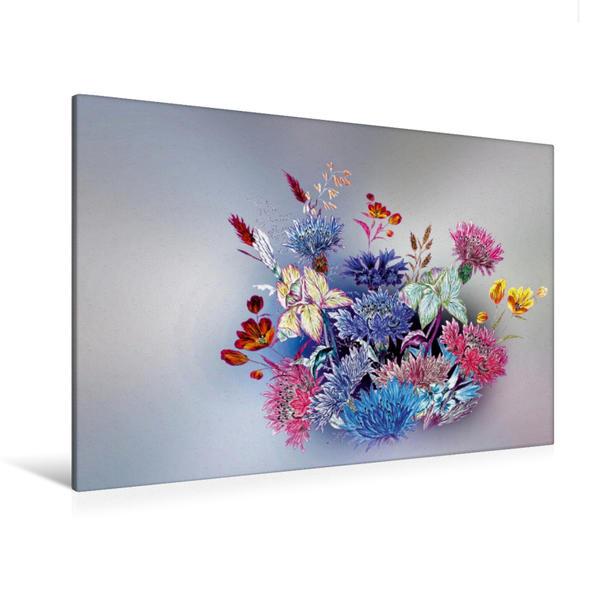Premium Textil-Leinwand 120 cm x 80 cm quer, Wiesenblumen | Wandbild, Bild auf Keilrahmen, Fertigbild auf echter Leinwand, Leinwanddruck - Coverbild